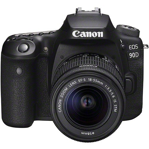 Canon EOS 90D Kit mit EF-S 18-55mm Objektiv - Frontansicht