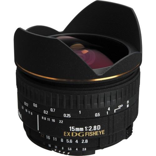 Sigma AF 15mm f/2.8 EX DG Diagonal-Fisheye Objektiv für Canon