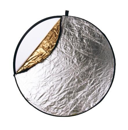 Helios Faltreflektor 110cm silber/gold rund
