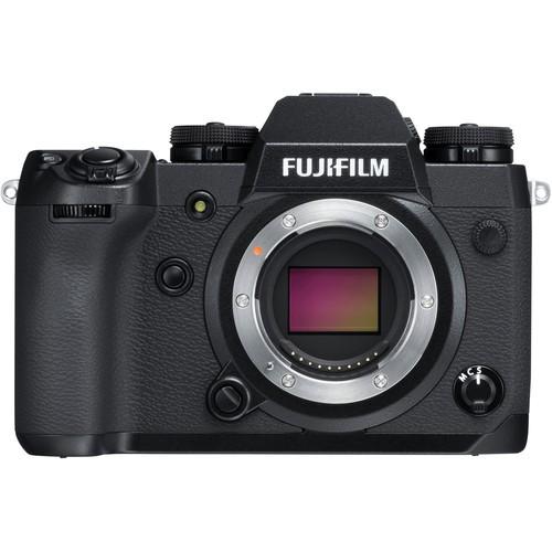 Fujifilm X-H1 Gehäuse schwarz - Frontansicht