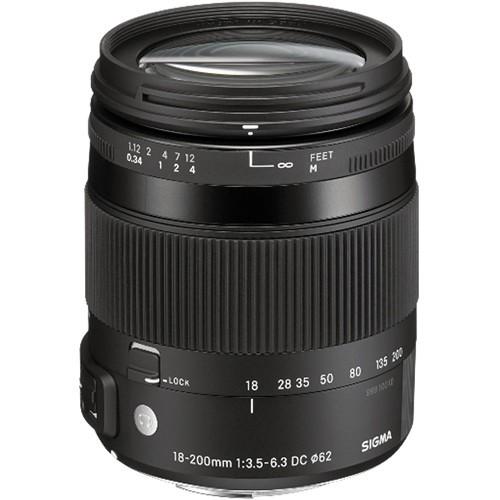Sigma 18-200mm f/3.5-6.3 DC Macro OS HSM Contemp. Objektiv für Nikon