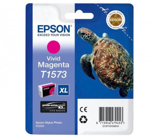 Epson T1573 Tintenpatrone vivid magenta für R3000