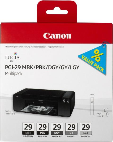 Canon PGI-29 Multipack je 36ml MBK/PBK/DGY/GY/LGY Tinte