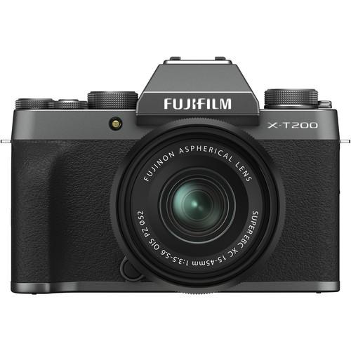 Fujifilm X-T200 Kit mit XC 15-45mm dunkelsilber - Frontansicht