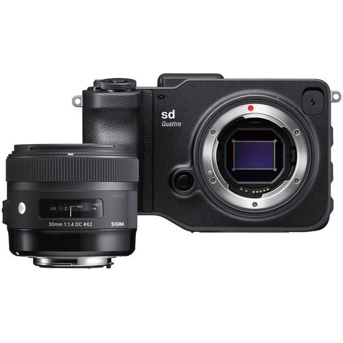 Sigma SD Quattro Set mit 30mm f/1.4 Objektiv