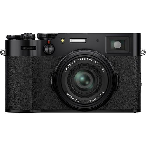 Fujifilm X100V Kompaktkamera schwarz - Frontansicht