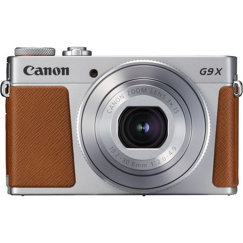 Canon PowerShot G9 X Mark II silber - Frontansicht