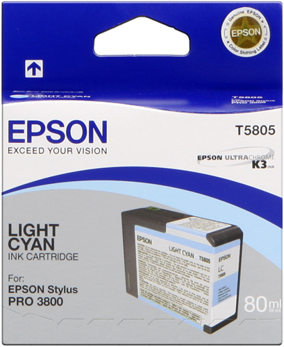 Epson T5805 Tintenpatrone light cyan 80ml für ESP 3800