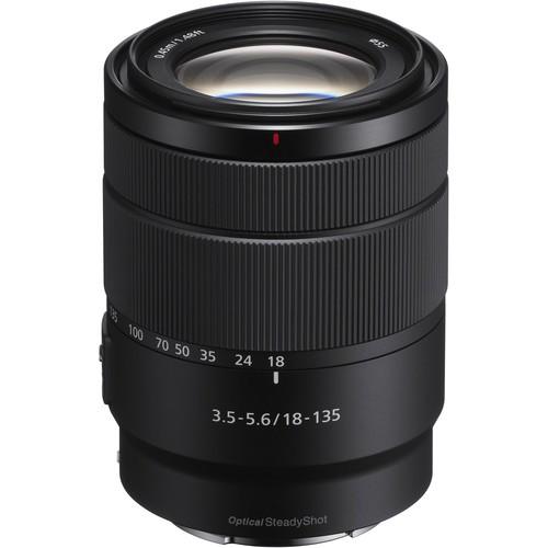 Sony E 18-135mm f/3.5-5.6 OSS Objektiv - Frontansicht