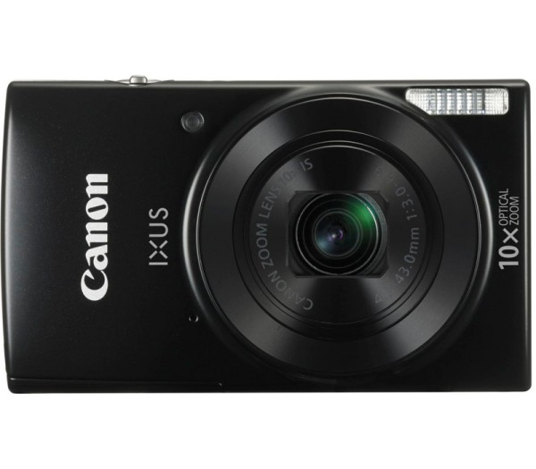 Canon IXUS 190 Kompaktkamera schwarz - Frontansicht