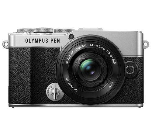 Olympus PEN E-P 7 Pancake Zoom Kit silber