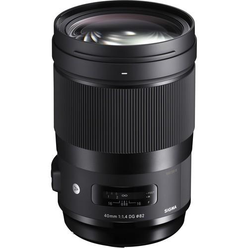 Sigma 40mm f/1.4 DG HSM Art Objektiv für Nikon - Frontansicht