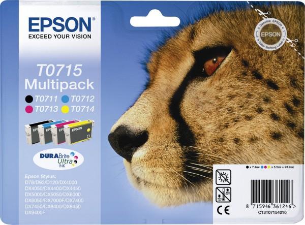 Epson T0715 Tintenpatrone Multipack 4-färbig für D78