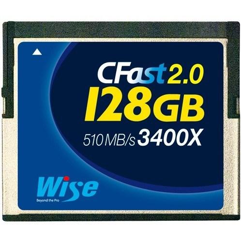 Wise 128GB CFast Speicherkarte (3400x, blau) - Frontansicht