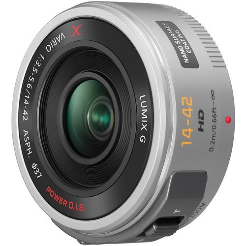 Panasonic Lumix G X Vario PZ 14-42mm f/3.5-5.6 ASPH. Power O.I.S. Objektiv silber