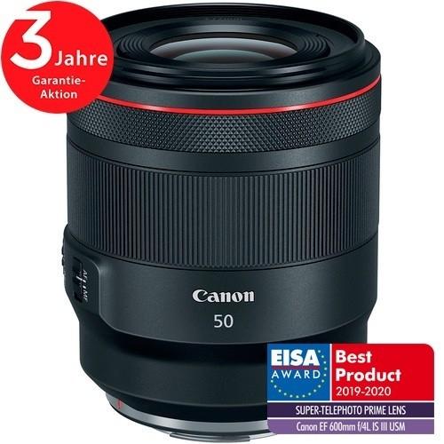 Canon RF 50mm f/1.2L USM Objektiv - Frontansicht mit extra Logo Eisa