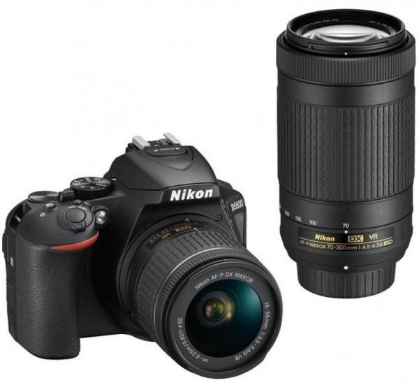 Nikon D5600 Kit mit AF-P 18-55mm VR + AF-P 70-300mm VR Objektiv