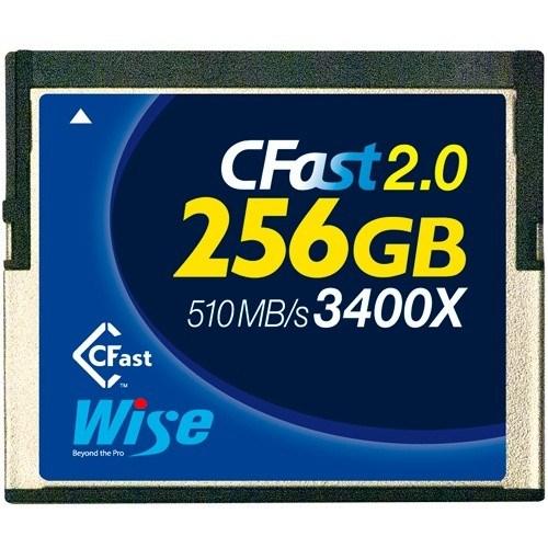 Wise 256GB CFast Speicherkarte (3400x, blau) - Frontansicht
