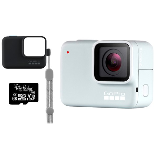 GoPro Hero 7 Special Edition White inkl. Hülle schwarz, Trageband & 32GB microSD