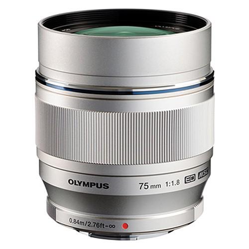 Olympus M.Zuiko Digital ED 75mm f/1.8 Objektiv silber
