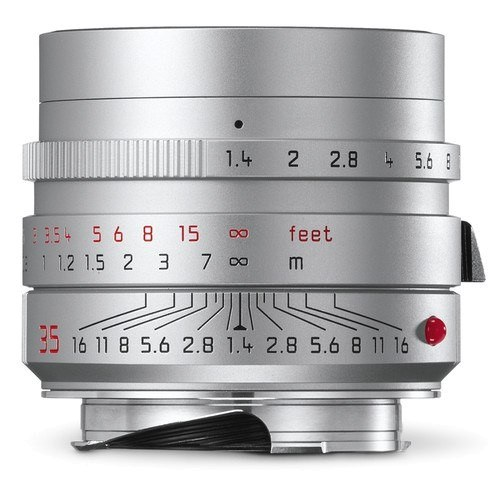 Leica Summilux-M 35mm f/1.4 ASPH. Objektiv silber (11675) - Frontansicht