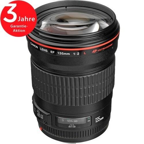 Canon EF 135mm f/2 L USM Objektiv - Schrägansicht