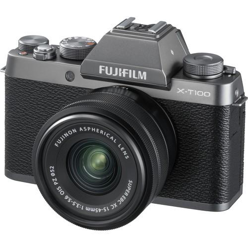 Fujifilm X-T100 Kit - Schrägansicht