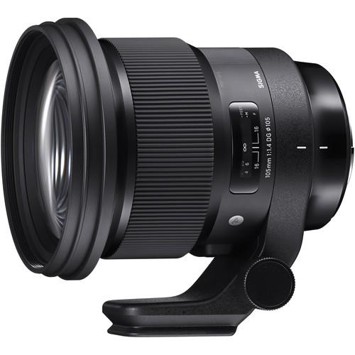 Sigma 105mm f/1.4 DG HSM Art Objektiv für Sony - Schrägansicht