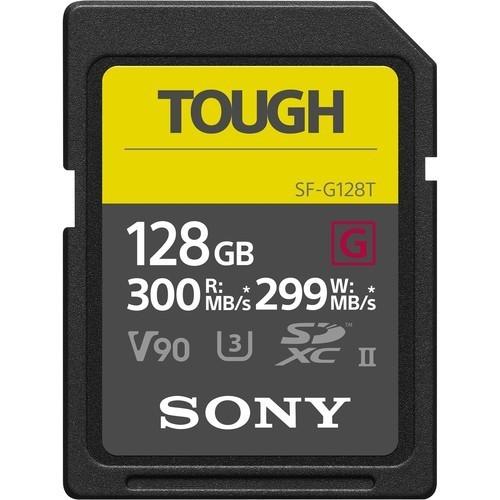 Sony 128GB Tough UHS-II SDHC U3 Speicherkarte - Frontansicht