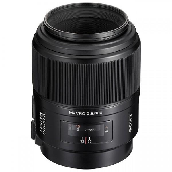 Sony SAL 100mm f/2.8 Makro Objektiv - Frontansicht