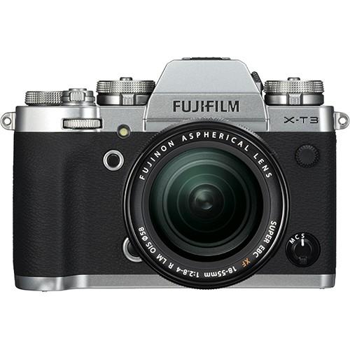 Fujifilm X-T3 Kit mit 18-55mm Objektiv silber - Frontansicht