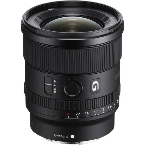 Sony FE 20 mm f/1.8 G Objektiv - Oberansicht