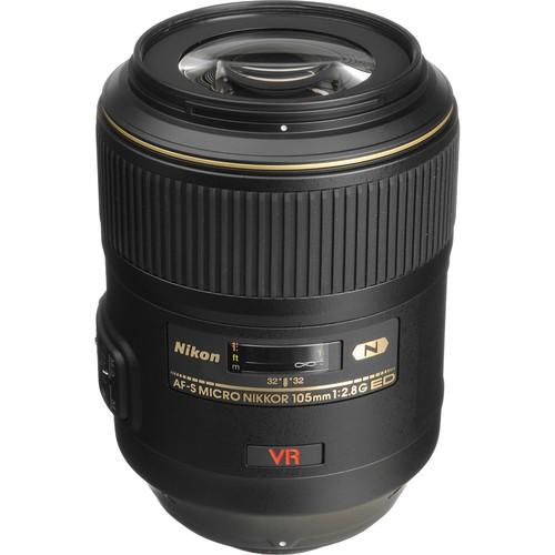 Nikon AF-S 105mm F2.8 G IF-ED VR Micro-Nikkor - Topansicht