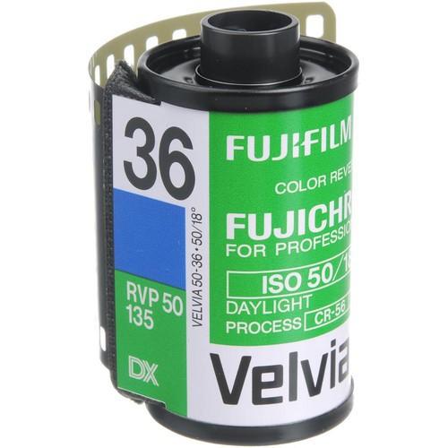 Fujifilm Fujichrome 135-36 Velvia 50 Diafilm (RVP 50)
