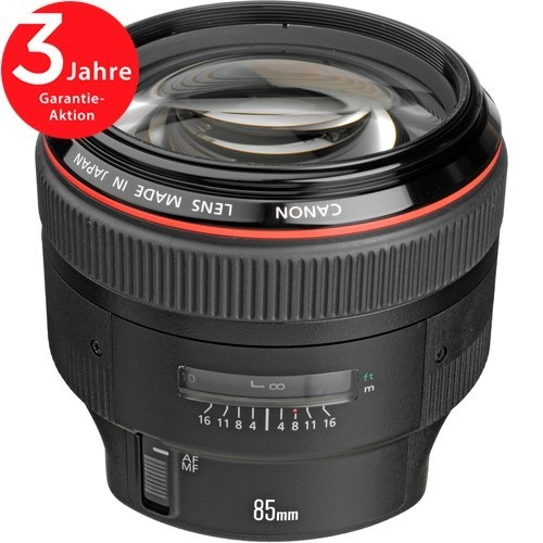Canon EF 85mm f/1.2 L II USM Objektiv - Frontansicht