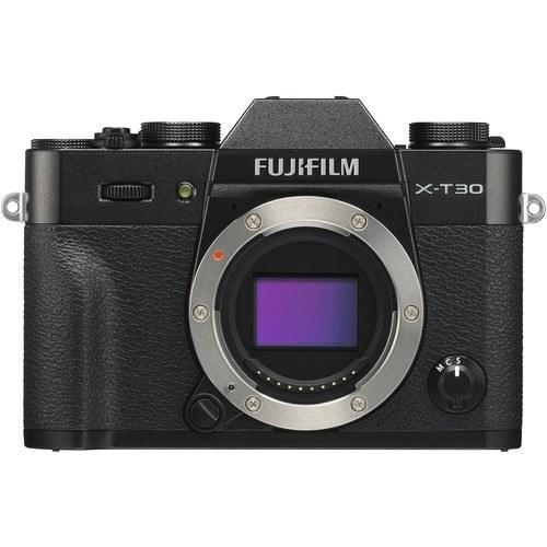 Fujifilm X-T30 Gehäuse schwarz - Frontansicht
