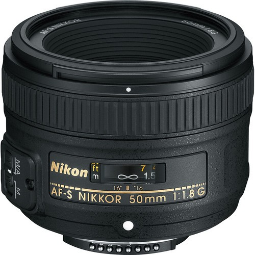 Nikon AF-S Nikkor 50mm F1.8 G - Frontansicht