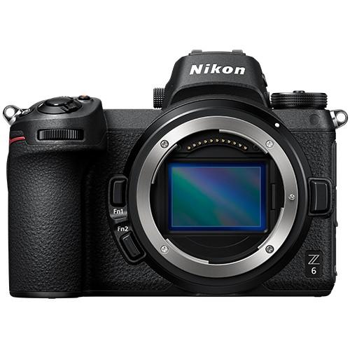 Nikon Z6 Gehäuse mit FTZ Adapter - Frontansicht