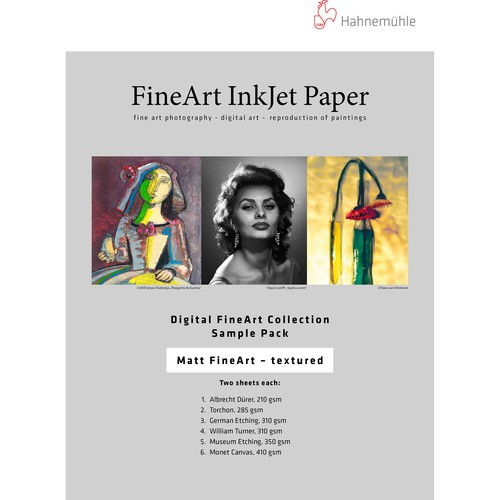 Hahnemühle FineArt Inkjet Papier Sample Pack Matt textured