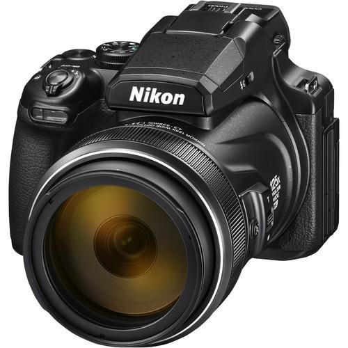 Nikon Coolpix P1000 schwarz - Schrägansicht