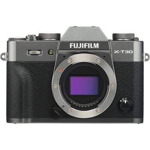 Fujifilm X-T30 Gehäuse anthrazit - Frontansicht
