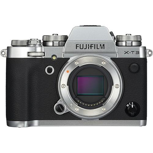 Fujifilm X-T3 Gehäuse silber - Frontansicht