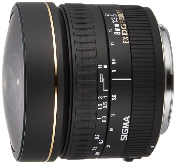 Sigma AF 8mm f/3.5 EX DG Zirkular-Fisheye Objektiv für Nikon