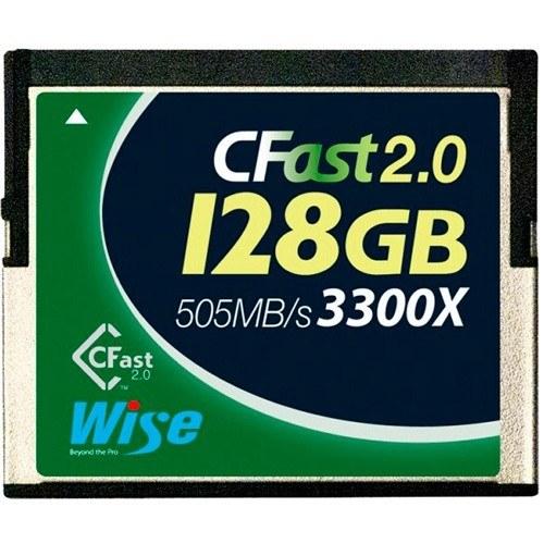 Wise 128GB CFast Speicherkarte - Frontansicht