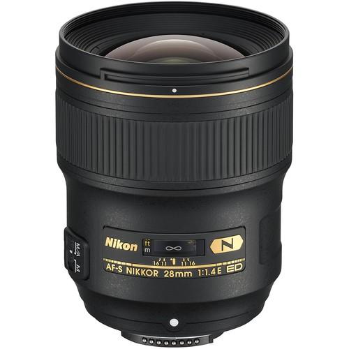 Nikon AF-S 28mm f/1.4 E ED Objektiv - Frontansicht