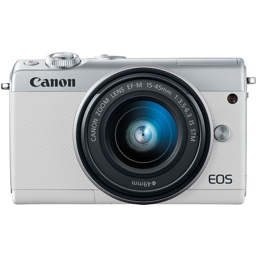 Canon EOS M100 Kit weiss - Frontansicht