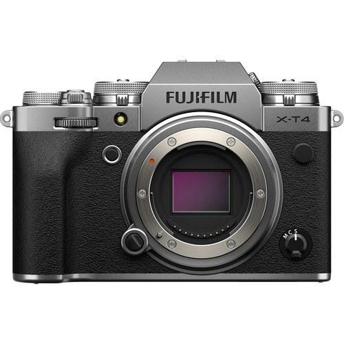 Fujifilm fp X-T4 Gehäuse silber - Vorderansicht