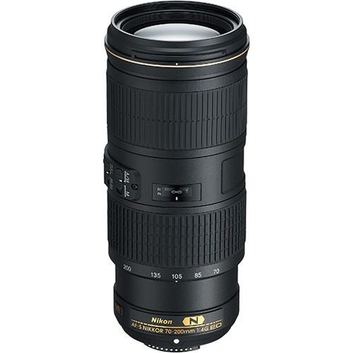 Nikon AF-S Nikkor 70-200mm F4.0 G ED VR - Frontansicht