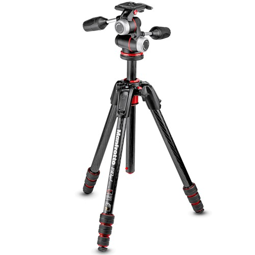 Manfrotto 190GOC4-3WX Carbon Stativ - Frontansicht
