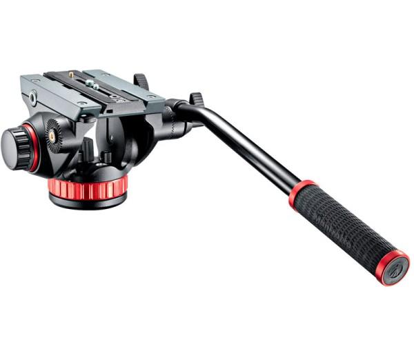 Manfrotto MVH502AH Pro Fluid-Videoneiger - Schrägansicht